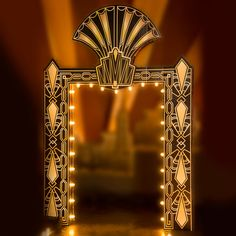 Puttin' On The Ritz Art Deco Arch with lights