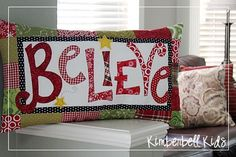 Adorable pillow to make and then make one using joy and love