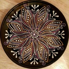 Dot Art Painting, Mandala Painting, Stone Painting, Mandala Pattern, Mandala Design, Deer Skull Art, Mandela Art, Pottery Painting Designs, Mandala Rocks