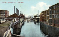 Photographer Unknown - Erie Canal, Syracuse, N.Y. (Postcard)