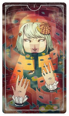The Magician Julia Iredale For the upcoming Ostara Tarot - If you love Tarot, visit me at www.WhiteRabbitTarot.com