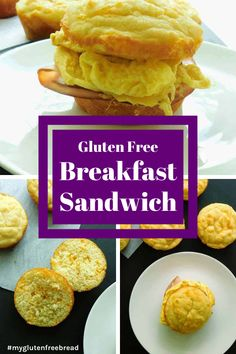 A delicious gluten free breakfast sandwich for an easy, nutritious breakfast! Even when you have no time to make anything for breakfast, you can warm up a breakfast sandwich and head out the door. Mexican Breakfast Recipes, Gluten Free Recipes For Breakfast, Delicious Breakfast Recipes, Gluten Free Breakfasts, Gluten Free Biscuits, Gluten Free Treats, Budget Freezer Meals, Budget Recipes, Gf Recipes
