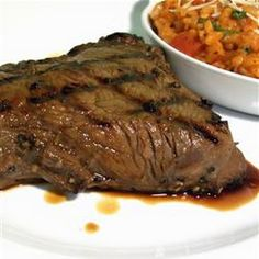 Best steak marinade ever: 1/4 cup balsalmic vinegar, 1/4 cup worcestershire sauce, 1/4 virgin olive oil, 2 teaspoons Dijon mustard, salt and pepper to taste. Makes enough marinade for 2 well sized steaks. I LOVE it! We're doing it again tonight!