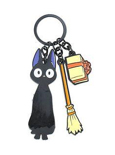Kiki's Delivery Service Jiji Three Charm Key Chain,