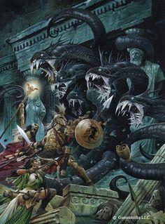Attack the Hydra. Art by Wayne Reynolds.