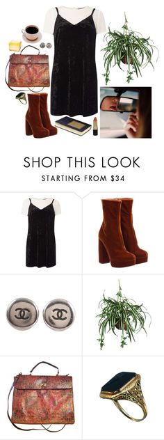 """counting my lucky stars"" by keeralea ❤ liked on Polyvore featuring Dorothy Perkins, Miu Miu, Chanel, Nearly Natural, Urban Outfitters and Revlon"