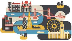 Editorial City Illustrations by Jing Zhang