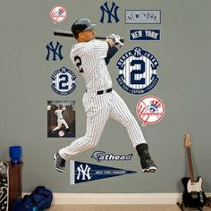 """Derek Jeter - Legacy - REAL.BIG. Fathead Wall Graphics - (W x H) 4'2"""" x 6'2"""" - FREE SHIPPING! - Scroll Down Page To See Other Related Items 