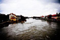 Donau River in Regensburg Germany