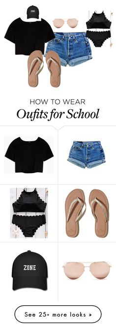 """""""Untitled #30"""" by mckessler on Polyvore featuring Max&Co., Hollister Co. and Linda Farrow"""