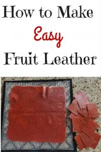 Stop wasting money on store bought fruit leather. This delicious snack is incredibly easy to make with a dehydrator.