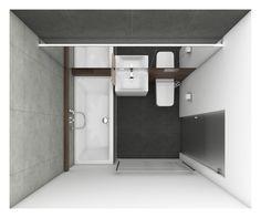Moderní koupelna DENIM - půdorys