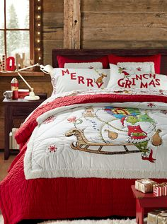 Give your bed a playful new look and a cozy new layer with our flannel duvet cover featuring artwork and words from Dr. Seuss's How the Grinch Stole Christmas! This duvet cover is STANDARD 100 by OEKO-TEX® certified so you can rest easy Pajamas For Teens, Flannel Duvet Cover, Grinch Stole Christmas, The Grinch, Whoville Christmas, White Christmas, Christmas Bedding, Grinch Party, Cozy Pajamas