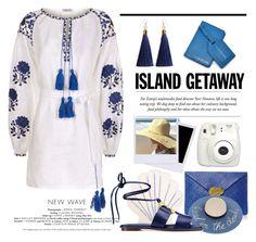 """Island Getaway"" by conch-lady ❤ liked on Polyvore featuring Jonathan Simkhai, Meri Meri, Eugenia Kim, Fanm Mon, Tory Burch, Botkier, Fujifilm and islandgetaway"