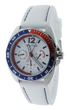 Nautica N09907G Unisex Watch White Sport Ring Box Set Multifunction