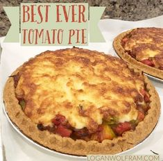 Best Ever Tomato Pie - Logan Wolfram Chef And The Farmer, Southern Tomato Pie, Fresh Tomato Recipes, Veggie Dishes, Side Dishes, Tomato Dishes, Main Dishes, The Best, Logan