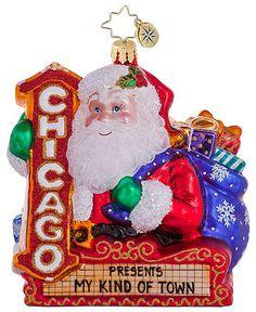 "Christopher Radko Christmas Ornament,  ""Chicago Santa"", Macy's Exclusive"