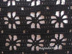 Captivating Crochet a Bodycon Dress Top Ideas. Dazzling Crochet a Bodycon Dress Top Ideas. Crochet Motifs, Crochet Blocks, Crochet Borders, Crochet Diagram, Crochet Stitches Patterns, Filet Crochet, Crochet Lace, Stitch Patterns, Knitting Patterns