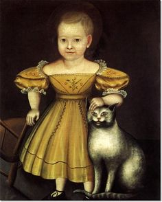 Unknown American Artist -  Unknown Artist - Lydia and Tabitha 1840  Painting