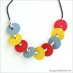 Press Here is such a fun, interactive book for children! We created this simple necklace craft for kids based on the story. It's perfect for practicing math patterns and fine motor skills too! Pretty Necklaces, How To Make Necklaces, Letter P Activities, Diy For Kids, Crafts For Kids, Polka Dot Theme, Math Patterns, Ladybug Crafts, Kids Inspire