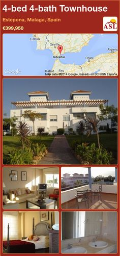 Townhouse for Sale in Estepona, Malaga, Spain with 4 bedrooms, 4 bathrooms - A Spanish Life Malaga Spain, Double Bedroom, Second Floor, Ground Floor, Dining Area, Rooftop, Townhouse, Terrace, Bath