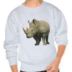 African Rhino Pullover Sweatshirts