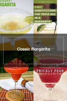 Classic Margarita with Tequila, Triple Sec, Lemonade, Lime Wedge, Coarse Salt. Prickly Pear Margarita, Triple Sec, Lime Wedge, Tequila, Lemonade, Alcoholic Drinks, Tableware, Classic