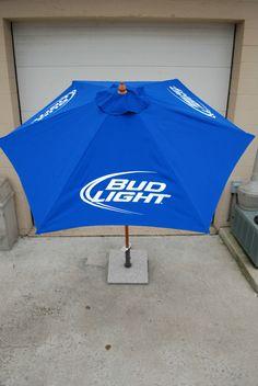 Bud Light Beer Patio Beach Market 7 FT. Umbrella ~ NEW & F/S 3 Bud Light Logos   eBay