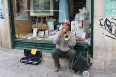Busking in Portugal