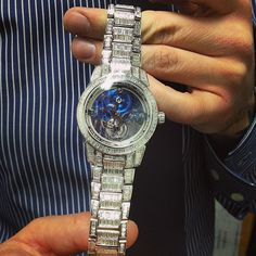 Mt. Everest on your wrist #itscaratsnotkarats #ulyssenardin #platinum #diamond #sapphire #tourbillon by watchyoulookinat