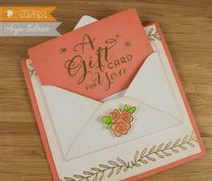 Anya - Life is What You Make It using Gift Card It stamp set, Gift Card It Die Set, and Gift Card It Envelope Die.