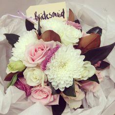 bridesmaid bouquet wedding flowers www.albaroses.com.au
