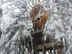 passer la nuit dans une cabane dans les arbres? On en parle sur le blog!
