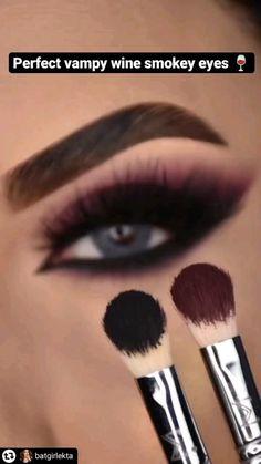Smoke Eye Makeup, Eyebrow Makeup Tips, Makeup Tutorial Eyeliner, Eye Makeup Steps, Makeup Eye Looks, Eye Makeup Art, Skin Makeup, Smokey Eye Tutorial, Dramatic Eye Makeup