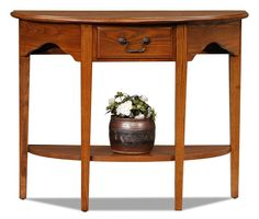 Leick+Furniture+-+Demilune+Console+Table