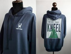 Loki Hoodie : Loki's Army small logo plus You were made to be ruled on blue navy Hoodie sweatshirt  printed on front and back