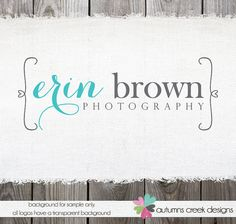 Premade Photography Logo  Swirly Heart Frame Text by autumnscreek