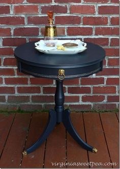 Vintage Drum Table Makeover