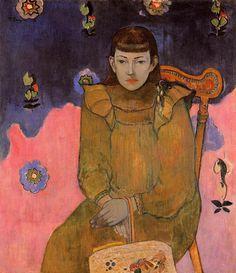 Paul Gauguin, France (1848-1903) Portrait of a Young Woman, Vaite (Jeanne) Goupil (1896) #PaulGauguin #Gauguin #EmileBernard…