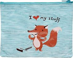 Paper Source - I Heart My Stuff Pouch- I love this little fox!