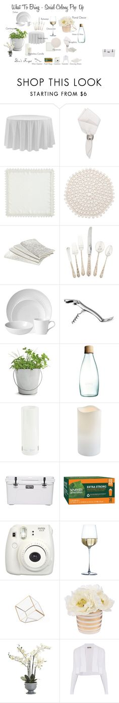 """""""Social Colony White Party"""" by ilovepartystyle on Polyvore featuring Waterford, C & F, Kim Seybert, Royal Doulton, Potting Shed Creations, Retap, Threshold, Pier 1 Imports, Seventh Generation and Rove Concepts"""