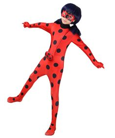 9c139a1e46c7 Halloween Costume Girls Ladybug Kids Zentai Dress Up Jumpsuit Lycra  BodysuitM -- Learn more at