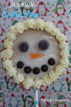 Want to know how to make these Easy Snowman Cookie pops that are great for holiday parties and, of course, as stocking stuffers. Create these Snowman Cookie Pops using our Christmas Pops Cookie Pan or this Snowman Cookie Pops Pan. Christmas Gift List, Christmas Snowman, Christmas Cookies, Christmas Ideas, Christmas Baking, Holiday Fun, Christmas Time, Christmas Deserts, Holiday List