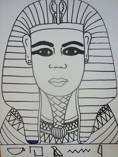 Tutankhamen's Portrait and Heiroglyphics