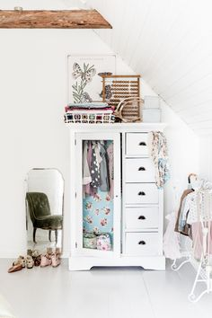 cute white wardrobe