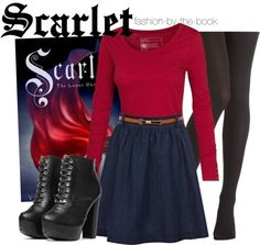 Scarlet Lunar Chronicles, Book cover outfit! credit: Fashion-by-the-book on tumblr