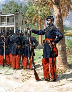The First South Carolina Volunteers were a Union Army Regiment of the American Civil War composed of escaped slaves from South Carolina and Florida. The regiment was re-designated the US Colored Infantry on February They were unique in thei History Quotes, Us History, Ancient History, Civil War Art, Union Army, Black History Facts, Civil War Photos, African American History, Military History