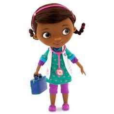 Nu kan legetøjsdyrene blive behandlet af vores talende og syngende Doktor McStuffins dyrlægedukke. Hun har en hårbøjle, en dyrlægetaske og et stetoskop og kan sige 7 replikker og endda synge!