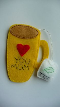 Mothers Day cup of tea bookmark Love you mom by DarlingOwlBoutique, $5.00
