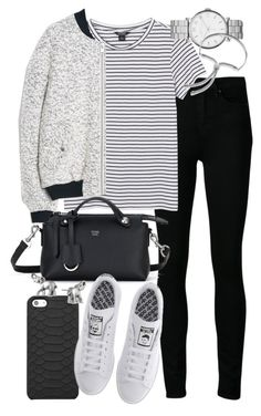 """""""Untitled #19307"""" by florencia95 ❤ liked on Polyvore featuring GiGi New York, Paige Denim, Monki, MANGO, Marc by Marc Jacobs, Fendi, adidas, Monica Vinader and Lonna & Lilly"""